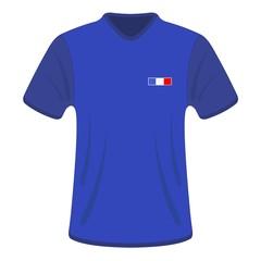 Maillot bleu. France