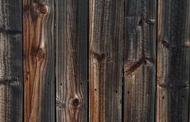 Dark Brown Vintage Wood Planks Background
