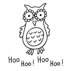 Cute cartoon wise owl