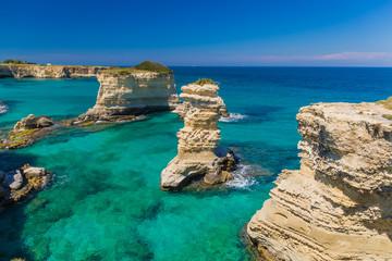 Garden Poster Cyprus Torre Sant Andrea cliffs, Salento peninsula, Apulia region, South of Italy