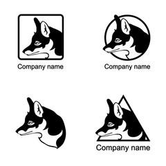 Set of fox logo
