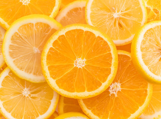lime, lemon and orange slices