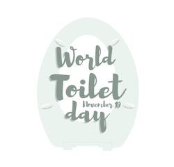 World toilet day, november 19