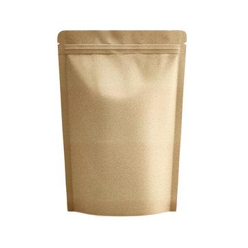 Blank foil bag on neutral backgroundBlank foil bag on neutral background