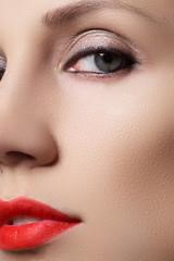 Oriental style. Sensual arabic woman model. Beautiful clean skin, saturated make-up. Bright eye make-up and dark eyeliner