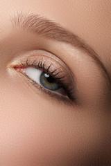 Eye makeup. Beautiful eyes make-up. Holiday makeup detail