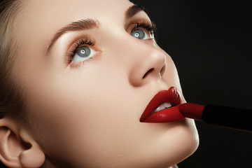 Beauty lips. Beautiful lips close-up, great idea for the advertising