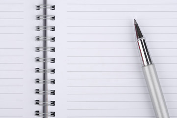 Pen With Blank Notebook