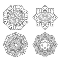 Mandalas collection. Decorative elements. Elements for coloring page