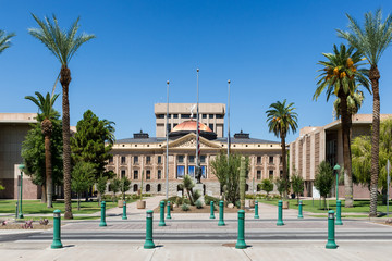 Exterior of the old Arizona State Capitol building in Phoenix, Arizona