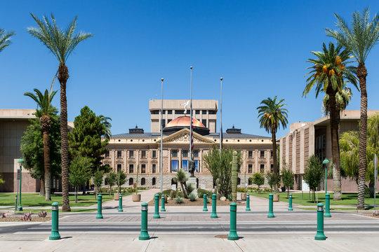 Exterior of the old Arizona State Capitol building in Phoenix, Arizona