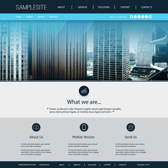 Website Design Template for Your Business with Chicago Skyline Image Background