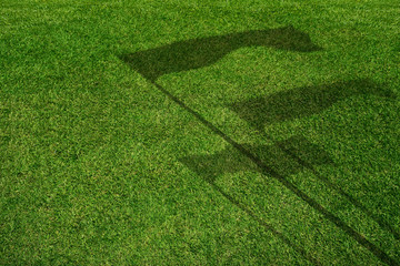 Yard Field with Flag Shadow