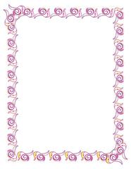 Abstract elegant violet frame. Vector clip art.