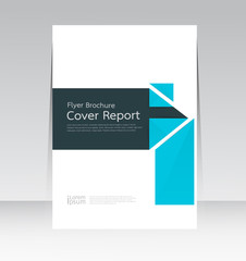 Vector design for Cover Report Brochure Flyer Poster in A4 size