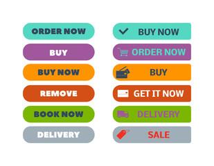 Shop buttons vector icon