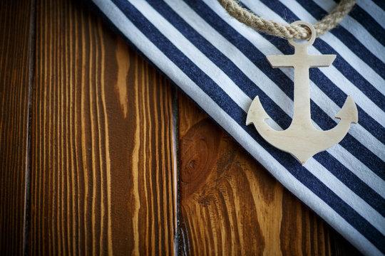 Wooden nautical anchor