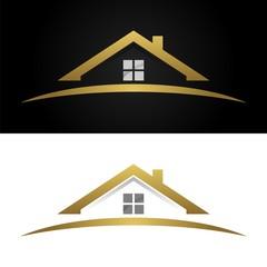 Gold Home Real Estate Logo v.2