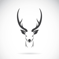 Vector image of an deer head design on white background, Vector