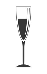 Cocktail icon. Drink design. vector graphic