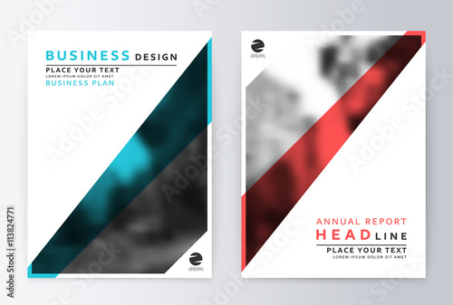 cover design blue and red template brochure flyer annual report