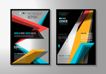 Brochure template, Flyer Design or Depliant Cover for business