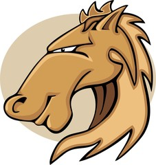Wild Horse or Stallion Graphic Mascot
