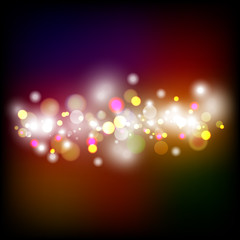 Abstract bokeh background, Vector