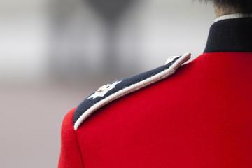 detail of the London guards uniform
