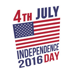 4th July Independence day 2016 vector illustration
