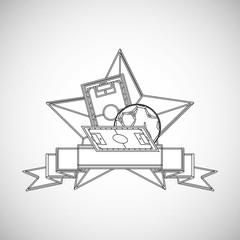 Soccer design. Football icon. Colorfull illustration, vector gra
