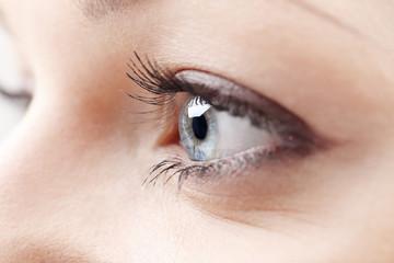 Close-up photo of a beautiful woman's eyes