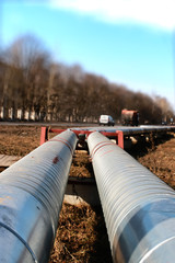 pipes in the street