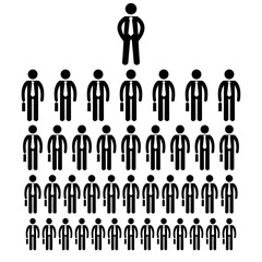 stick figure icon businessmen big company human resources vector