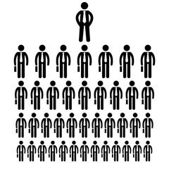 stick figure icon businessmen big company human resources vector