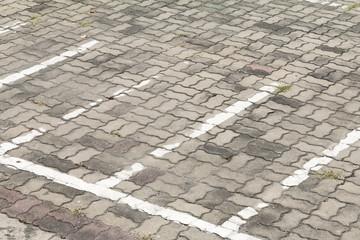 Line motorbike outdoor parking.