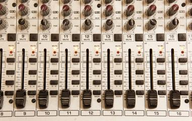 Music studio mix console