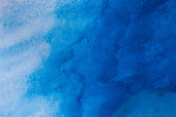 Blue watercolor background for backgrounds or textures
