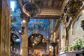 Detail of the interior of the Basilica della Santissima Annunziata