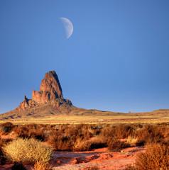 Wall Mural - Monument Valley Arizona Moon Rise