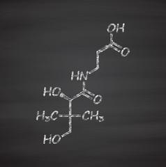 Vitamin B5 (pantothenic acid, pantothenate) molecule.