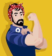 man feminist poster