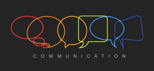 Vector abstract Communication concept illustration Wall mural