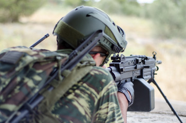 Radio operator soldier