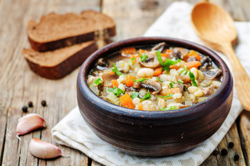 white bean soup mushrooms