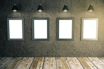 Blank frames in room