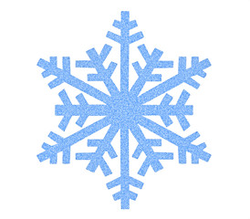 Snowflake icon isolated on white background