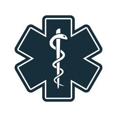 life star medical snake icon