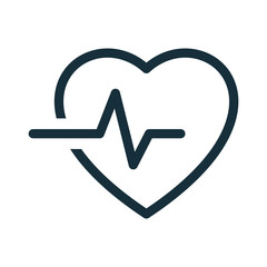 heart pulse cardiogram icon