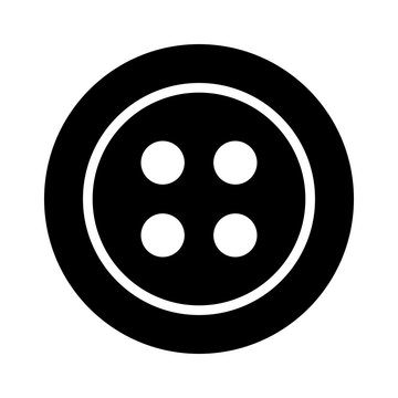 Clothing for fashion fastener button flat icon for apps and websites